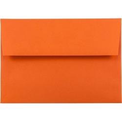 JAM Paper Brite Hue A6 Envelopes 4 3/4 X 6 1/2 50 per pack Orange, Orange Smoothie