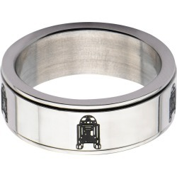 Men's Star Wars R2-D2 Stainless Steel Spinner Ring (9), Silver found on MODAPINS from target for USD $8.99