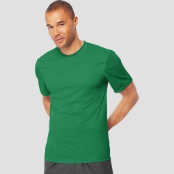 ff89d2cbd Hanes Men's Big & Tall Short Sleeve CoolDRI Performance T-Shirt -Kelly  Green 3XL