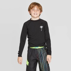Boys' Long Sleeve Rash Guard - Cat & Jack Black M, Boy's, Size: Medium found on Bargain Bro India from target for $14.99