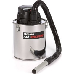 Shop-Vac Ash Vacuum With Pellet Stove Kit - Stainless Steel, Silver
