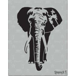 Stencil1 Elephant - Stencil 8.5