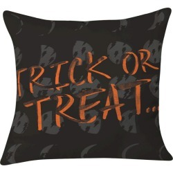 "20""x20"" Zoe Wodarz Cheap Trick And Some Treats Throw Pillow Black - Deny Designs, Orange Black"