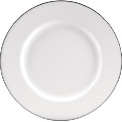 """Charger Plate Silver Line 12.25""""x12.25"""" Set of 4 - 10 Strawberry Street"""