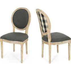 Phinnaeus Set of 2 Farmhouse Dining Chair Black - Christopher Knight Home found on Bargain Bro India from target for $254.99