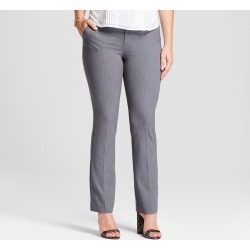 Women's Bootcut Curvy Bi-Stretch Twill Pants - A New Day Gray 18L, Size: 18 Long found on Bargain Bro India from target for $19.98