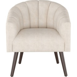 Modern Barrel Chair in Linen Cream - Project 62 , Ivory found on Bargain Bro India from target for $439.99