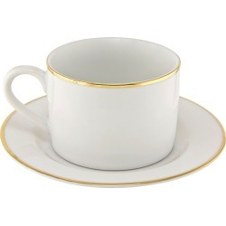 Can Cup/Saucer Gold Line Set of 4 - 10 Strawberry Street