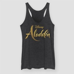 Women's Aladdin Live Action Logo Tank Top (Juniors') - Black Heather S, Size: Small found on Bargain Bro Philippines from target for $25.50