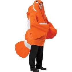Clown Fish Adult Costume One Size Fits Most, Adult Unisex, Orange