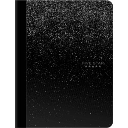 Five Star Wide Ruled Composition Notebook Black