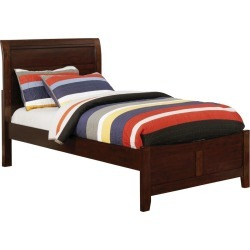 Ford Kids Wood Full Bed Brown Cherry - ioHOMES, Red found on Bargain Bro Philippines from target for $431.99