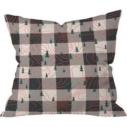 "20""x20"" Plaid Zoe Wodarz Nature Hike Throw Pillow Black - Deny Designs"