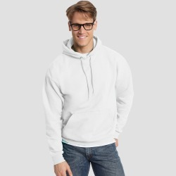 Hanes Men's EcoSmart Fleece Pullover Hooded Sweatshirt - White S found on Bargain Bro India from target for $15.39