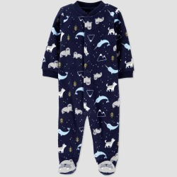 Baby Boys' Arctic Animal Narwhal Fleece Sleep 'N Play - Just One You made by carter's Navy Blue 9M, Boy's found on Bargain Bro India from target for $8.99