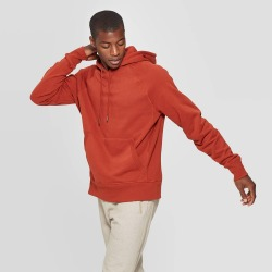 Men's Authentic Fleece Sweatshirt Pullover - C9 Champion Warm Cinnamon Brown L, Size: Large, Warm Red Brown found on Bargain Bro India from target for $24.99