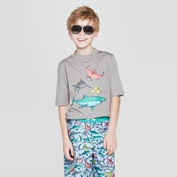 oversizeBoys' Shark Spotting Rash Guard - Cat & Jack Gray L Husky, Boy's, Size: Large Husky found on Bargain Bro India from target for $12.34