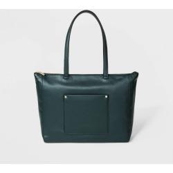 Zip Top Tote Handbag - A New Day Green, Women's, Size: Small, Mountain Green