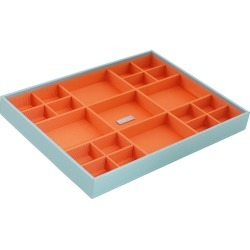 Wolf Large Multi-Compartment Jewelry Tray - Aqua (Blue)