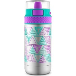 Ello Ride 12oz Vacuum Insulated Stainless Steel Water Bottle - Mint/Purple, Green/Purple
