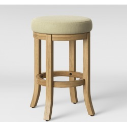 Cheshire Round Farmhouse Swivel Counter Stool Cream (Ivory) - Threshold found on Bargain Bro India from target for $59.99