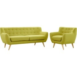 Remark 2pc Living Room Set Wheat - Modway