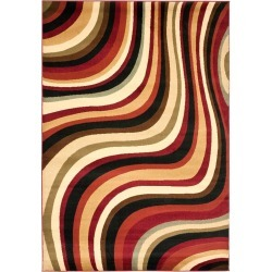 """Red/Multi Abstract Woven Area Rug - (6'7""""X9'6"""") - Safavieh , Red / Multi"""