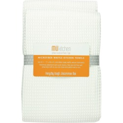 Set of 2 Waffle Microfiber Kitchen Towel - Mu Kitchen, White