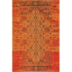 6'X9' Medallion Loomed Area Rug Coral/Navy - Safavieh, Pink found on Bargain Bro India from target for $287.99