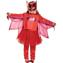 Halloween Girls Pj Masks Owlette Prestige Tutu Costume S(4-6X), Girl's, Size: Small, MultiColored