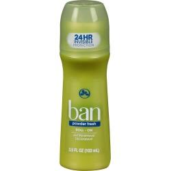 Ban Roll-On Powder Fresh Antiperspirant Deodorant - 3.5oz