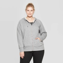 Women's Plus Size Full Zip Authentic Fleece Sweatshirt - C9 Champion Heather Gray 2X, Women's, Size: 2XL, Grey Gray found on Bargain Bro India from target for $21.99