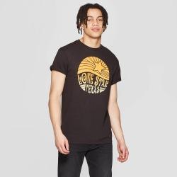 petiteMen's Short Sleeve Crewneck Lone Star Texas Graphic T-Shirt - Modern Lux Black XL