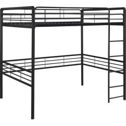 Metal Loft Bed (Full) Black - Room & Joy