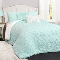 Light Aqua Ravello Pintuck Comforter Set - 4pc (Twin) - Lush Decor found on Bargain Bro India from target for $91.99
