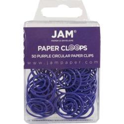 JAM Paper 50pk Circular Paper Clips - Purple