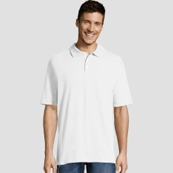 petiteHanes Men's Short Sleeve X-Temp Jersey Polo Shirt - White S, Size: Small found on Bargain Bro Philippines from target for $12.99