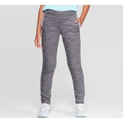 Girls' Cozy Fleece Jogger Pants - C9 Champion Gray M, Girl's, Size: Medium found on Bargain Bro India from target for $16.99