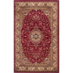 """Red/Ivory Floral Loomed Accent Rug 3'3""""X5'3"""" - Safavieh"""