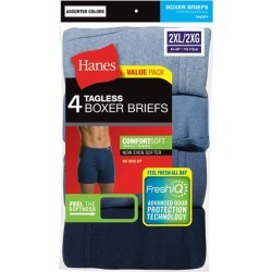 Hanes Men's 4pk Comfortsoft Waistband Boxer Briefs with Fresh IQ - 2XL, Men's, Clear found on Bargain Bro India from target for $16.19