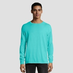 Hanes 1901 Men's Big & Tall Long Sleeve T-Shirt - Mint 3XL, Green found on Bargain Bro Philippines from target for $12.59