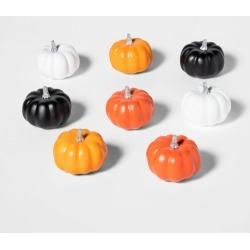 Halloween 8ct Mini Painted Halloween Pumpkin - Hyde & EEK! Boutique