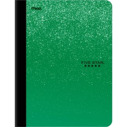 Five Star Wide Ruled Composition Notebook Green