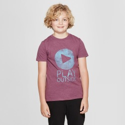 petiteBoys' Short Sleeve Play Outside Graphic T-Shirt - Cat & Jack Purple L, Boy's, Size: Large found on Bargain Bro Philippines from target for $6.00