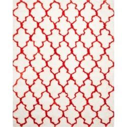 Leila Printed Shag Rug - Ivory/Rust (8'X10') - Safavieh, Size: 8'X10', Ivory/Red