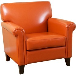 Rolled Arm Club Chair Orange - Christopher Knight Home