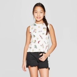 Girls' Graphic Knit Tank Top - art class White XL