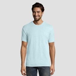 Hanes 1901 Men's Short Sleeve T-Shirt - Sky Blue M found on Bargain Bro India from target for $9.00