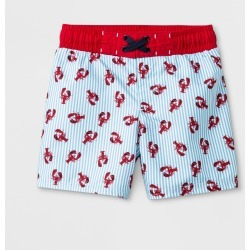 Toddler Boys' Lobster Print Swim Trunks - Cat & Jack Blue 2T, Boy's
