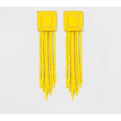 SUGARFIX by BaubleBar Brightly Beaded Tassel Earrings - Yellow, Women's